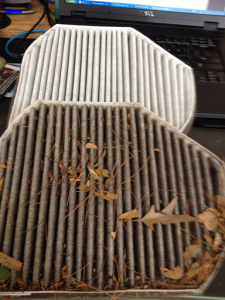 Cabin filters - the air you breath in your car. We recommend changing them at least once every 18 months.